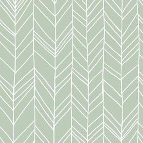 Featherland Light Sage/White