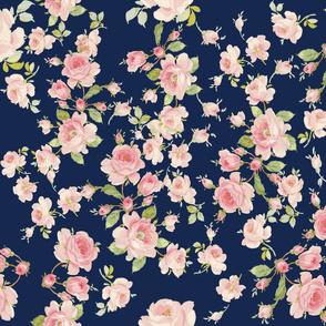 Saint Colette June Roses atlantic navy