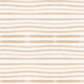 watercolor stripes - hand drawn stripes, peach stripes, pin stripes