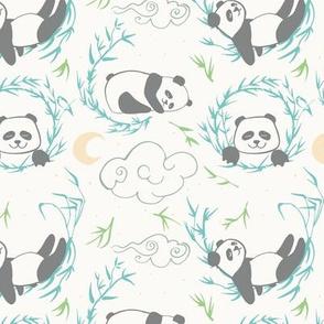 sleepy pandas light colors