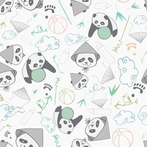 baby panda light colors