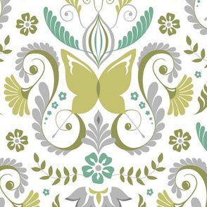 Butterfly Damask - Spring Mod Colors