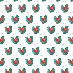 Love Birds- Green and Red