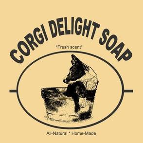 """Corgi Delight Soap"" Gift sack"