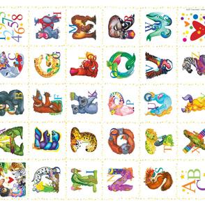 Amazing Animal Alphabet YARD by Cindy Shake