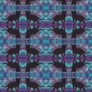 Black Cats Groovy Purple Blue