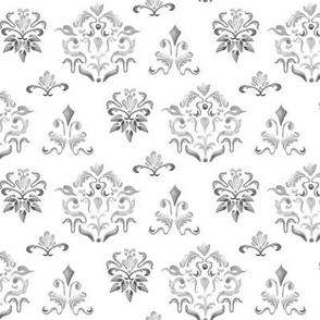 Damask Watercolor || Neutral Home Decor Grey Gray White Traditional  Owl Bird  _ Miss Chiff Designs