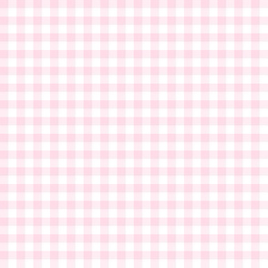 "baby pink gingham, 1/4"" check"