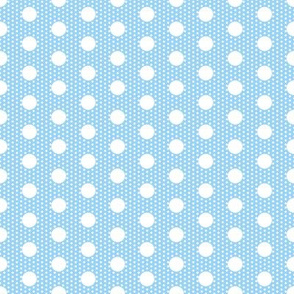 Dot dot: white on pale blue by Su_G_©SuSchaefer