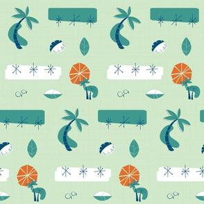 Palm Trees Mid Century Modern