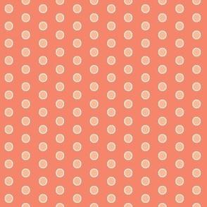 Coordinate Dots - Curliques Coral - Deep Coral