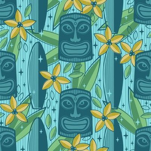 Blue Tiki Garden