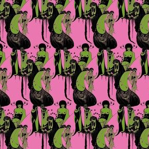 Beardsley: Chartreuse on Hot Pink