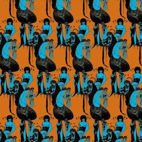 Beardsley: Pumpkin and Blue