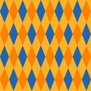circus harlequin diamonds - yellow, orange, blue