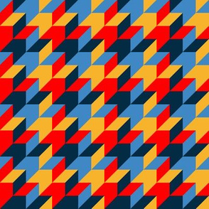 harlequin houndstooth - circus