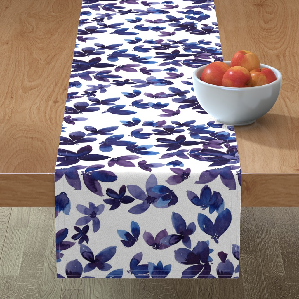 Minorca Table Runner featuring born to butterfly by rosemaryanndesigns