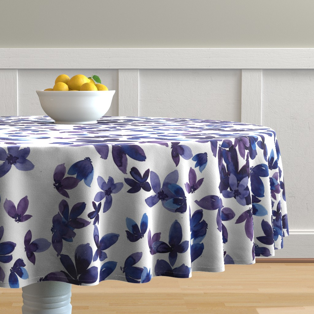 Malay Round Tablecloth featuring born to butterfly by rosemaryanndesigns