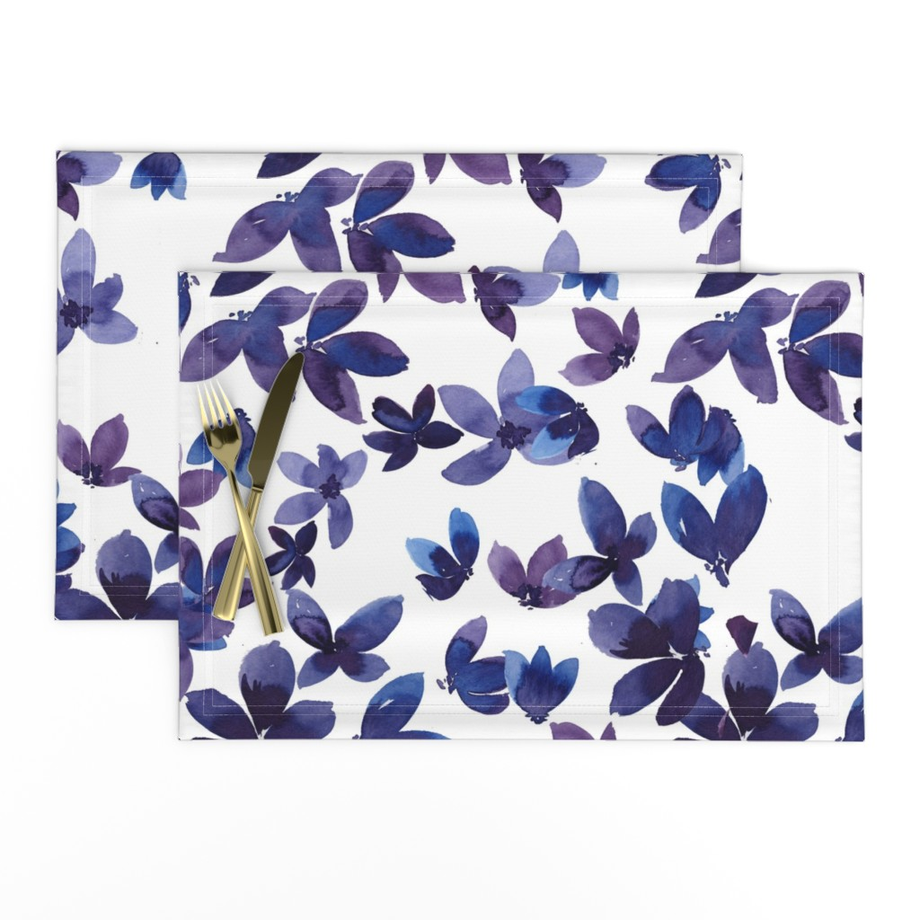 Lamona Cloth Placemats featuring born to butterfly by rosemaryanndesigns