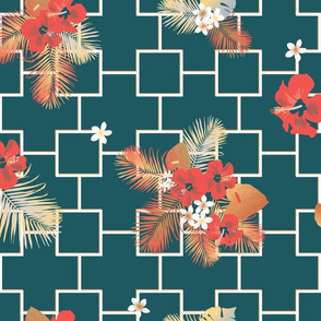 Hibiscus in midcentury modern Hawaii