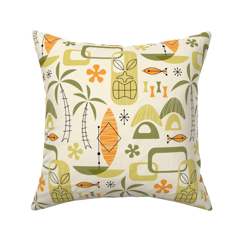 Catalan Throw Pillow featuring Hawaiian Village by mia_valdez