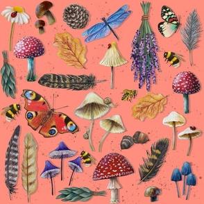 Abstract Birds in Flight