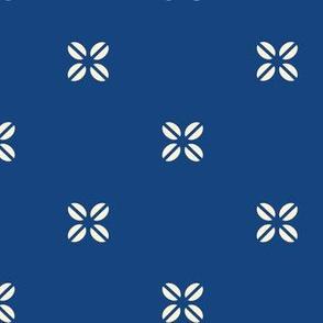 Kenya Cross - Creme on Blue