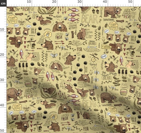Too Much To Bear In Montana Smaller Spoonflower