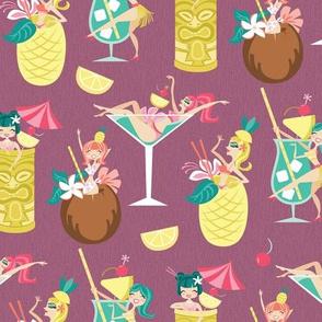Tiki Drink Girls in Taupe Tease