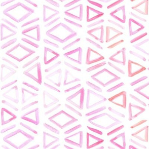 Pink Watercolor Tribal Mudcloth