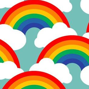 large circle rainbow - circus