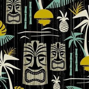 Island Tiki - Black Large