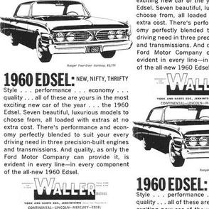 1960 Edsel Waller dealership ad Jenkintown PA