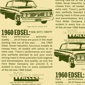 Waller Motors 1960 Edsel Ranger ad Jenkintown PA