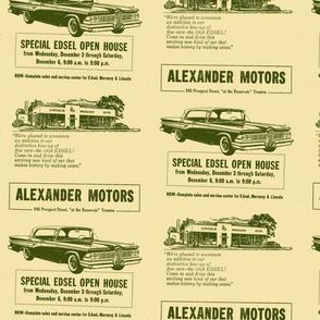 Alexander Motors 1959 Edsel advertisement Trenton NJ