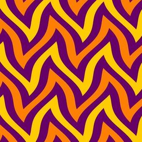 zigzag wave - purple, yellow, orange