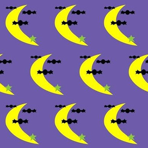 Bats, Moon and Stars Oh My! (on purple)