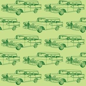 1958 Edsel Villager station wagon green on green