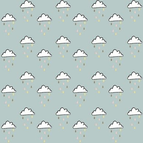 Tiny sprinkle clouds
