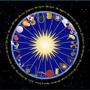 A Ring Of Tarot Trumps with Names