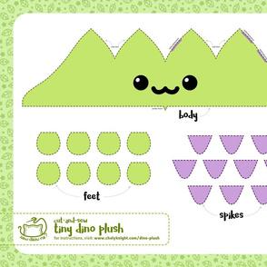 Cut & Sew Green Dino Plush