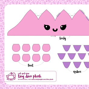 Cut & Sew Pink Dino Plush