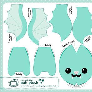 Cut & Sew Aqua Bat Plush