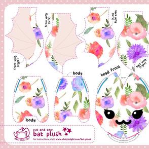 Cut & Sew Floral Bat Plush
