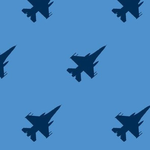 CF-18 Jet: blue with blue