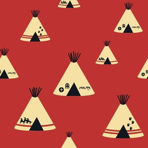 Teepees - Red