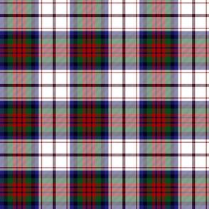 """MacDuff dress tartan, 6"""" red, blue, green, white"""