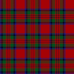 "MacDuff tartan, 6"", black line with large red"