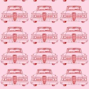 1959 Edsel Ranger or Corsair red on pink