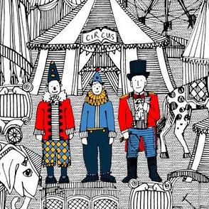 retro circus bw col